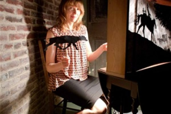 Katherine Fahery, Crankie creator. Old Fashioned Story telling accompanied by music, 11:30 am & 3 pm at the Garfield Center for the Arts